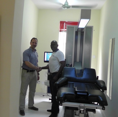 Nigeria lr - Steve Small with Chike Chuka and IDD Therapy