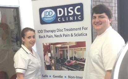 Nicola McLennan and James Sabala IDD Therapy Disc Clinic