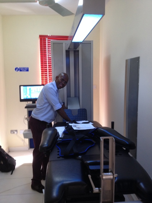 Chike Chuka with IDD Therapy at Astella Physiotherapy Clinics