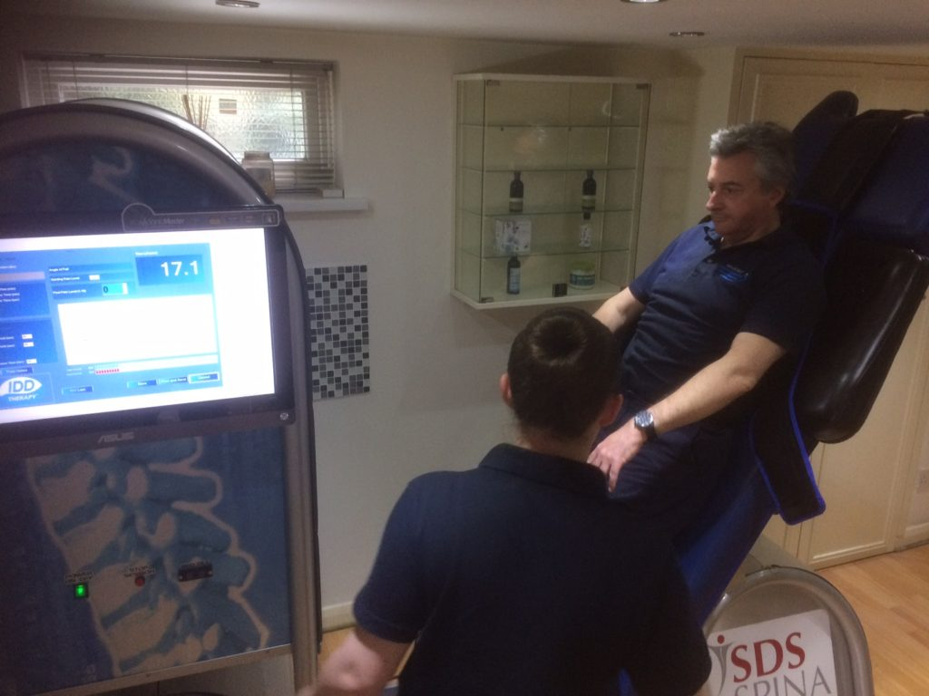 Spina machines have table tilt for patient safety after treatment